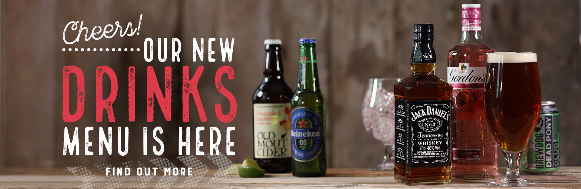 New Drinks Menu Coming Soon at The Gardeners Arms
